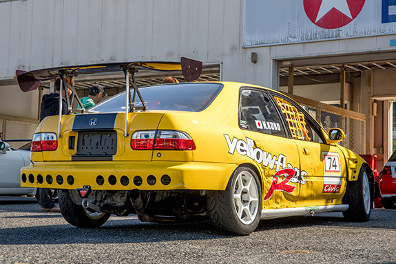 Yellowflags Racing EG9 Honda CIVIC Ferio イエローフラッグス レーシング ホンダ シビック フェリオ セントラルサーキット come 1 day race