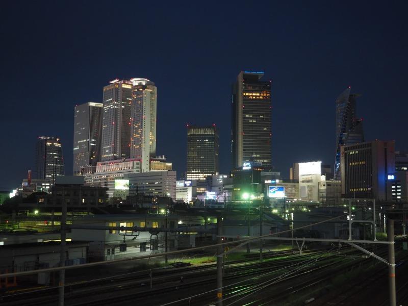 あおなみ線 ささしまライブ駅 名古屋駅方面 夜景