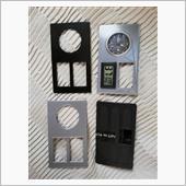 自作 例のパネルに時計と温湿度計を埋め込む