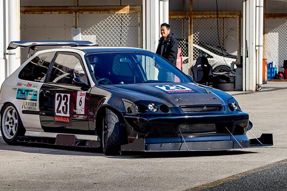 セントラルサーキット ASLAN Honda one make race シビック Civic 厚見自動車 NUTEC EK9