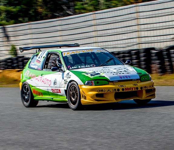 セントラルサーキット ASLAN Honda one make race ONE RANK UP AUTO EG6 Civic シビック