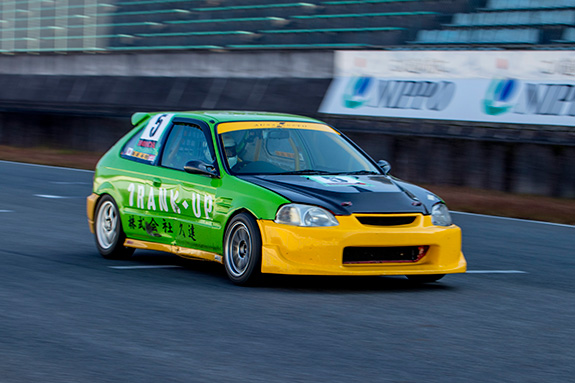 Central Circuit セントラルサーキットASLAN Honda One Make race ONE RANK UP AUTO Honda EF9 CIVIC ワンランクアップオート ホンダ シビック