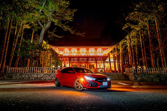 Honda CIVIC Type R FK8 ホンダ シビック タイプR 高野山 金剛峯寺