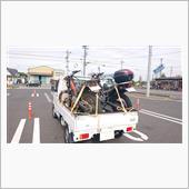 オフロードバイク2台積んで、林道ツーリング