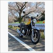 KAWASAKI Z1と桜