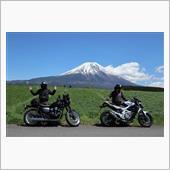 富士山のベストPHOTOスポットwithオートバイ。