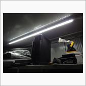 イナバ物置 照明取り付けの画像