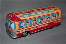 ブリキ製のはとバス、、