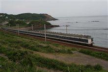 信越本線、青海川~鯨波間 トワイライト、きたぐに撮影