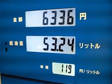 燃費の記録簿(135回目)