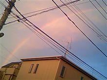 虹だぁ~( ̄∀ ̄)