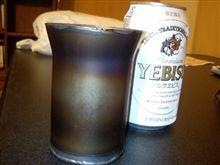 チタン製コップでビールを飲む!