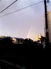 昨日の帰り、また見ました二重の虹(^_-)-☆