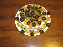 次女の2歳の誕生日にお母さんと子供達で作ったフルーツケーキ