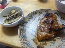 ネギ焼きとチキンの蜂蜜焼き