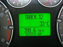 走行距離33,333km到達
