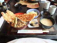 アナゴ天丼と明太子。