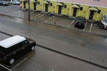 駐車場が水没