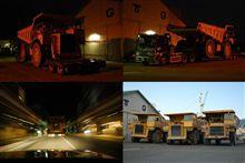 夜間超大型重機輸送