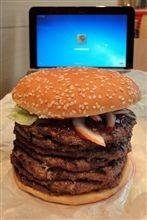 食欲の秋☆あの究極の激盛バーガーに挑戦!