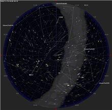 流れ星の構図