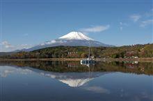 1年ぶりの冠雪した富士山