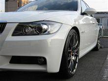 BMW E90...BBS-RE-V..DBK..結構ぱつぱつです。
