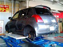タイヤ交換をする。