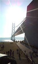 海がレフ板明石海峡大橋