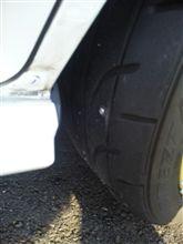タイヤがぁ…