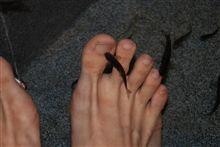 足のスキンケア。