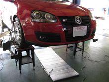 トータルアライメント....VW ゴルフⅤ GTI...FSD装着..慣らし終了