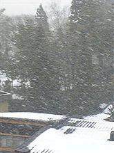 大晦日の上山は雪模様