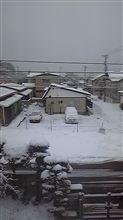 雪降り土曜日おはよ~