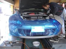 S2000ステアリングギヤボックスリジット化&ラックアップスペーサー取付(AP1)