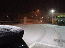 昨日の雪はもう解けた。 デミオで走る久々の雪道