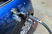 日米スタンドの給油ポンプのノズル