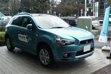 三菱自動車、新型RVRの試乗車