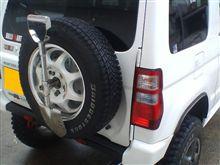 背面タイヤ表向け&スッコップ取り付け完了♪