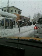 雪が凄いです!!