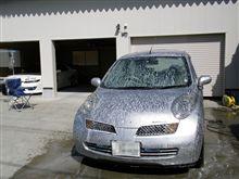 シルバーも黄砂目立つんで洗車