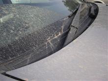 車が泥だらけに…