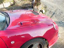 昨日洗車したのに暴風黄砂で、、、セリカ汚くなった。