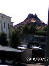山が見えた