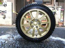 スタットレスタイヤを洗ってあげました。