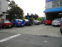 月末の駐車場