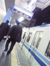 終電で帰ってきた
