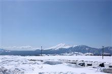 浅間山の雪景色
