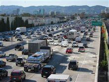 フリーウェイの渋滞