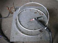 車椅子ロードレーサーのハンドリム製作。